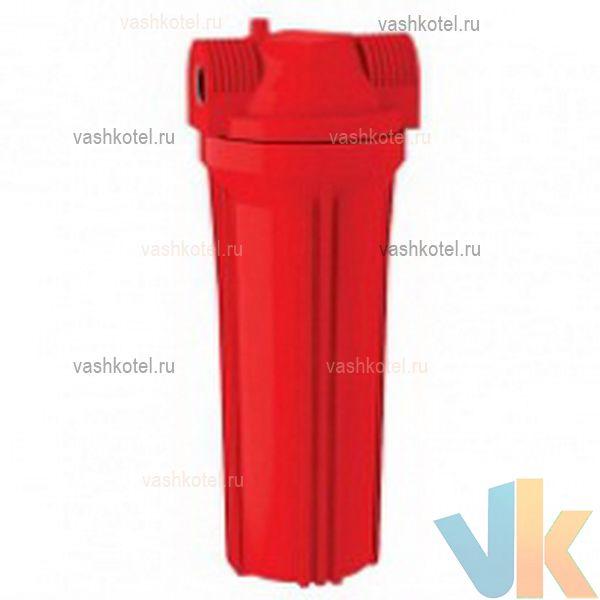 Aquatech Фильтр магистральный 10 для гор. воды красный корпус 1/2 без кронштейна,