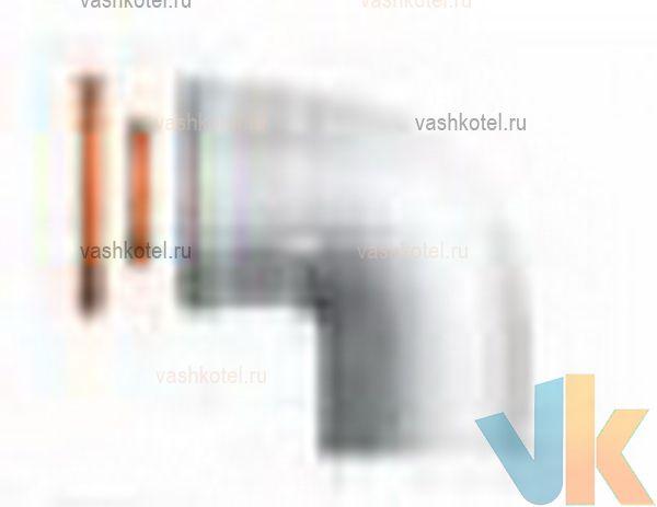 Ariston 60/100 Отвод M/F 90° с прокладками и крепежными винтами,