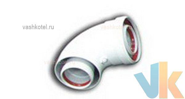 Arderia 60/100 Угол коаксиальный присоединительный 90° (А-011),