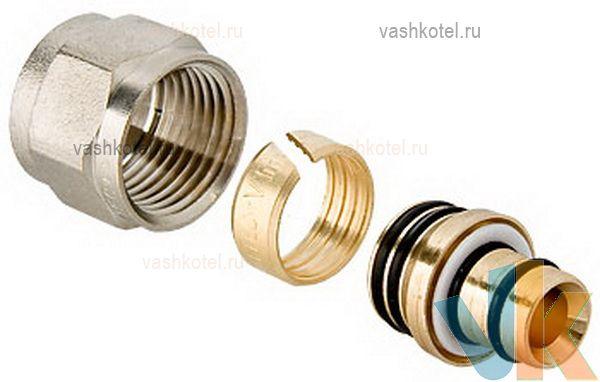 Valtec Соединитель коллекторный обжимной для м/п трубы 16 (2,0) х 1/2,