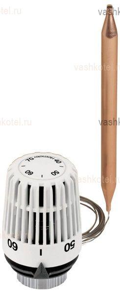 Heimeier Термостатическая головка K, (диап.настр. 20-50°С) с наклад. датчиком и капилляр. трубкой 2 м,