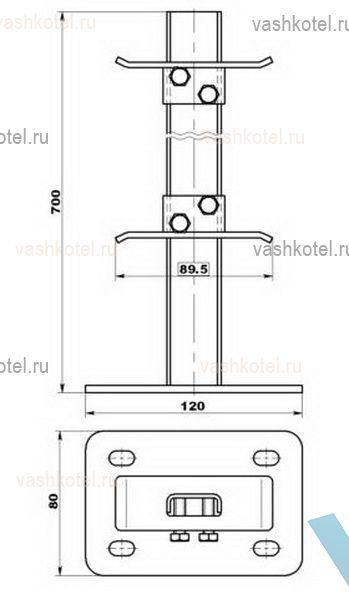 Твек Кронштейн 10.444 напольный для панельных рад. С22,